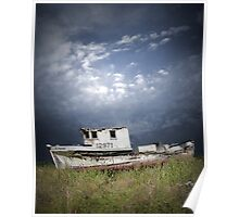 Abandoned Boat in Washington State Poster