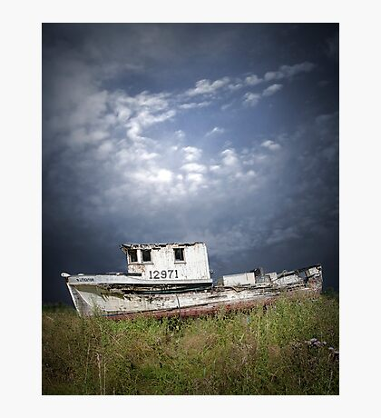 Abandoned Boat in Washington State Photographic Print