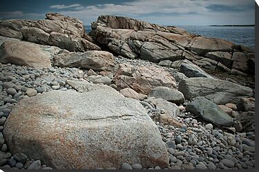 Rocky Shore in Acadia National Park by Randall Nyhof