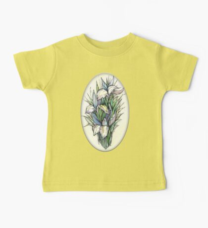 Beautiful iris - Hand draw  ink and pen, Watercolor, on textured paper Baby Tee