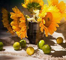 Still Life with Sunflowers by Sviatlana Kandybovich