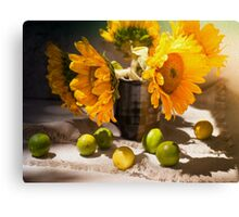 Still Life with Sunflowers Canvas Print