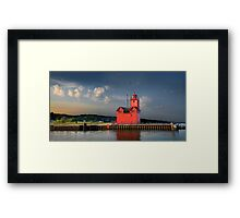 Big Red, the Lighthouse at Ottawa Beach at Sunrise Framed Print