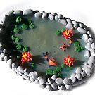 Miniature Koi Pond by Joann Barrack