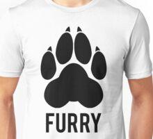 FURRY pawprint -black- Unisex T-Shirt
