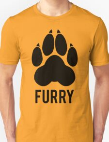 FURRY pawprint -black- T-Shirt