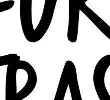 #FurryTrash -black- Sticker