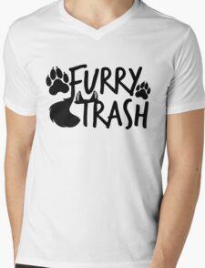 Furry Trash -black- Mens V-Neck T-Shirt