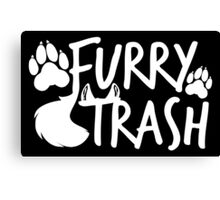 Furry Trash -white- Canvas Print