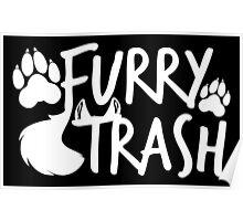 Furry Trash -white- Poster