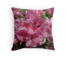 Precious Pink Azalea Throw Pillow