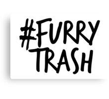 #FurryTrash -black- Canvas Print
