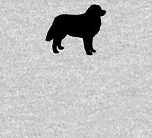 Bernese Mountain Dog Silhouette(s) Unisex T-Shirt