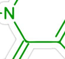 Caffeine Molecule Sticker