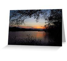 Lakeside Evening Calm Greeting Card