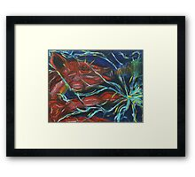 Thunderbolt Piggy Snorting Fire Threw its nose and Electricity threw its Hands  Framed Print