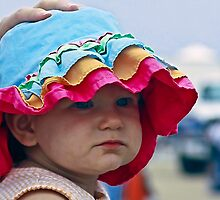 Mum Is Keeping My New Hat From Blowing Off!! by Heather Friedman