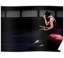 girl on a red seat Poster