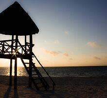Beach Tower Sunrise by Alison Simpson
