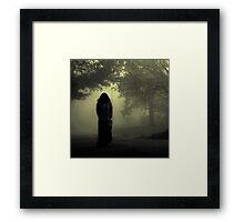 She approaches from the fog... Framed Print