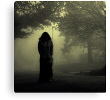 She approaches from the fog... Canvas Print