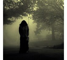 She approaches from the fog... Photographic Print