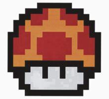 Mario Mushroom Pixels by milkyt
