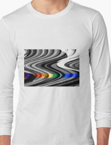 a slice of rainbow Long Sleeve T-Shirt