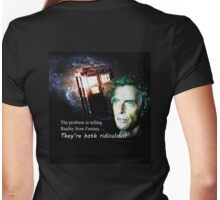 Space, Time, the Tardis & The Doctor Womens Fitted T-Shirt