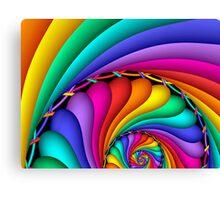 Rainbow Stitchery Canvas Print