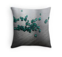 Aquamarine Lights Throw Pillow