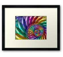 Metallic Spiral Rainbow Framed Print