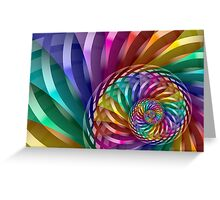 Metallic Spiral Rainbow Greeting Card
