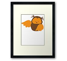 Super cute Kawaii Chibi owl Framed Print