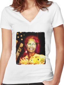 Rep. Michele Marie Bachmann (MN-6) Women's Fitted V-Neck T-Shirt