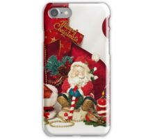 Santa Claus and Christmas candle iPhone Case/Skin