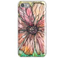 Red Poppy.Hand draw  ink and pen, Watercolor, on textured paper iPhone Case/Skin