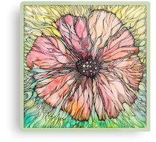 Red Poppy.Hand draw  ink and pen, Watercolor, on textured paper Metal Print