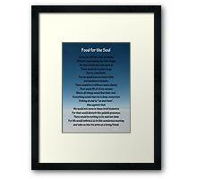 """Inspirational Meditation"" Framed Print"