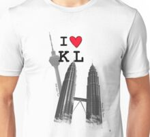 I Love KL Tower & KLCC Unisex T-Shirt
