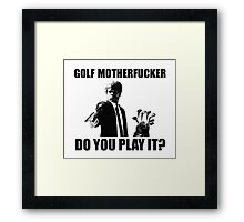 Funny Golf Shirt Framed Print