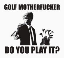 Funny Golf Shirt by DesignMC