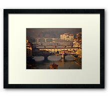 The Bridges of Florence Framed Print
