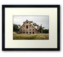 Abandoned Maltings Factory Exterior  Framed Print