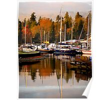 Stanley Park Harbour in the Fall Poster