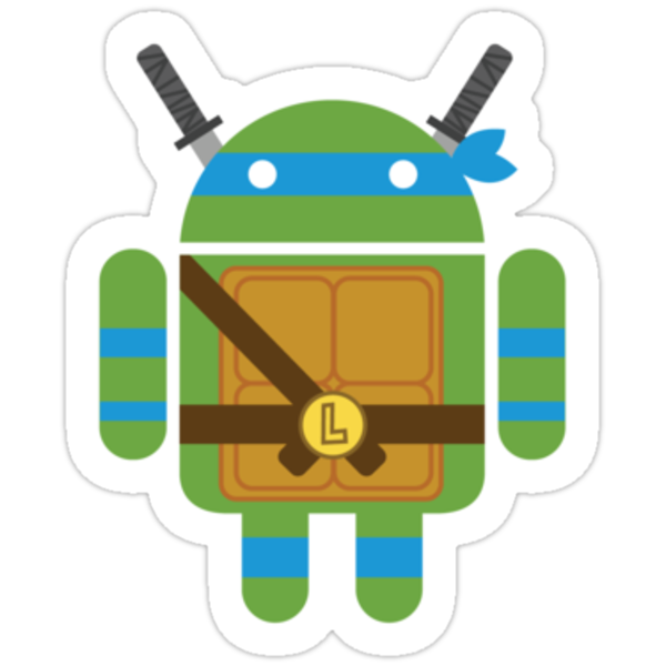 Leo Droid Sticker by Bamboota