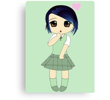 Cute Chibi In Love Canvas Print