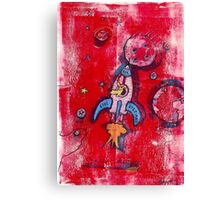 Laika  ( First Dog In Space )  Canvas Print