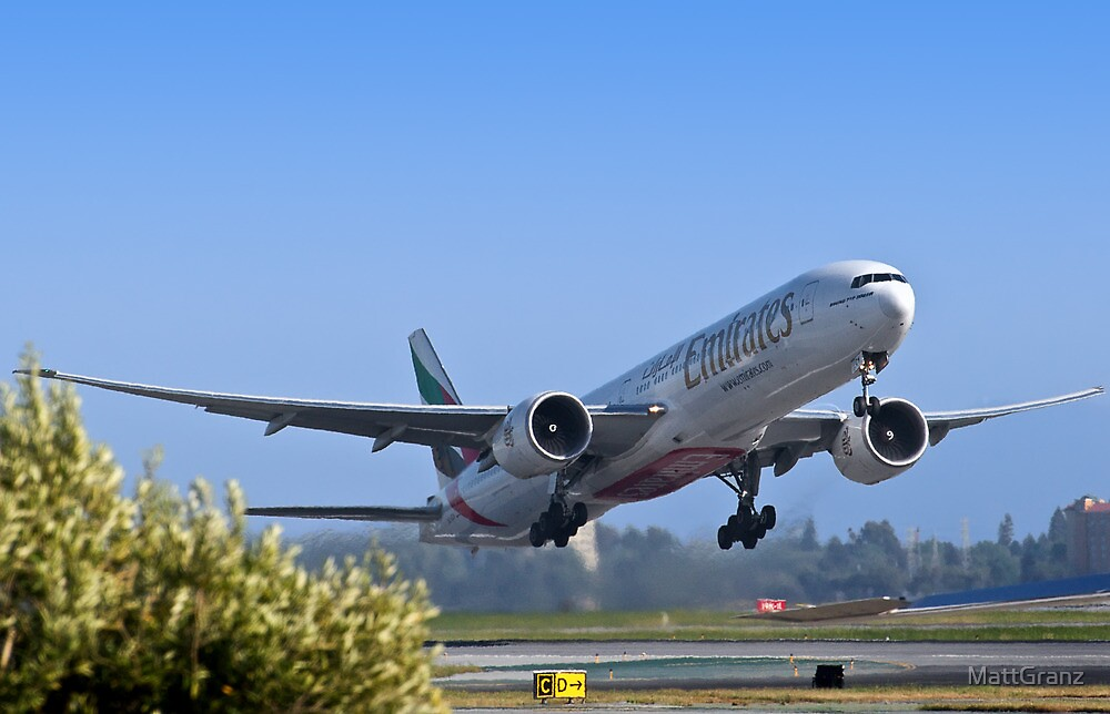 Emirates Leaving SFO by MattGranz