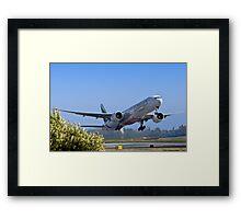 Emirates Leaving SFO Framed Print